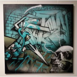 KBTR X Steen canvas (Skull) 1x1