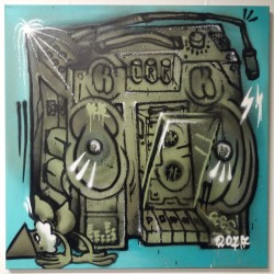 KBTR X Steen canvas (Boombox) 1x1